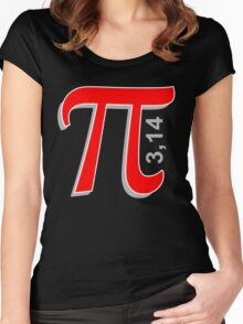 Pi Symbol Women's Fitted Scoop T-Shirt