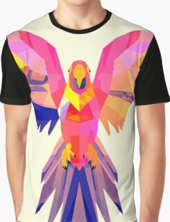 Low-Poly Tropical Bird Graphic T-Shirt