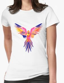 Low-Poly Tropical Bird Womens Fitted T-Shirt