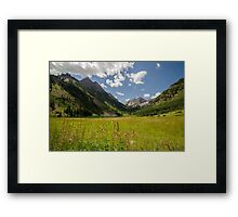 Maroon Bells, Colorado Framed Print