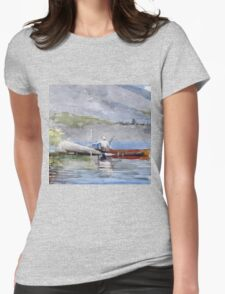 Winslow Homer - The Red Canoe Womens Fitted T-Shirt