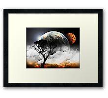 Tree Space Earth Framed Print