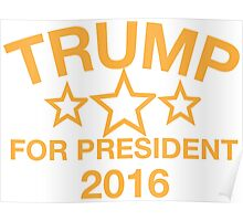 Donald Trump For President Poster