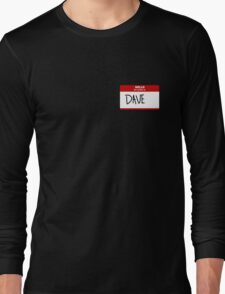 Name Tag  Long Sleeve T-Shirt