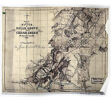 249 Sketch of the battle of Belle Grove or Cedar Creek Wednesday Octr 19th 1864 1 Poster