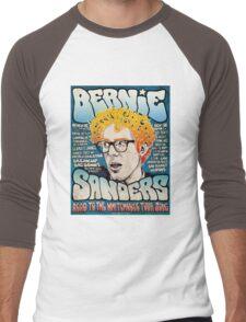 Bernie Sanders Cartoon Men's Baseball ¾ T-Shirt