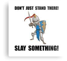 Knight Slay Something Cartoon Metal Print