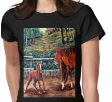 """Spring #3, Rebirth """"Dancing With Mamma"""" Womens Fitted T-Shirt"""