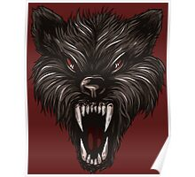 Angry werewolf Poster