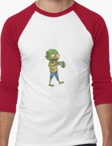 Zombie Cartoon Men's Baseball ¾ T-Shirt