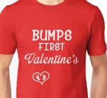 Bump's First Valentine 2 White Unisex T-Shirt