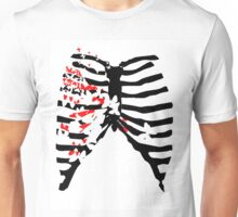 Butterfly Spine (white) Unisex T-Shirt