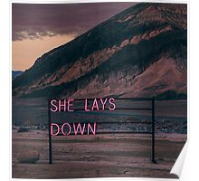 She Lays Down - The 1975  Poster