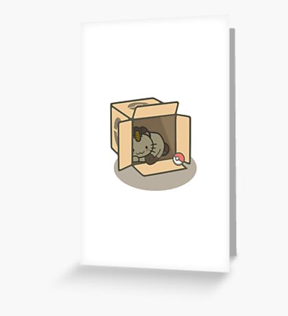 Meowth's New Home Greeting Card
