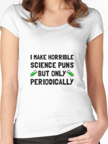 Science Puns Periodically Women's Fitted Scoop T-Shirt