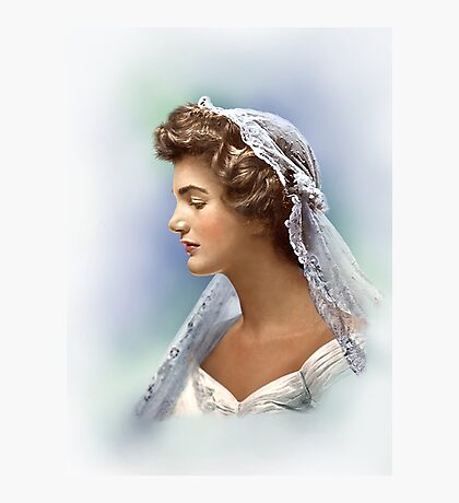 Colorized Vintage Portrait of Jacqueline Kennedy in 1953 Photographic Print