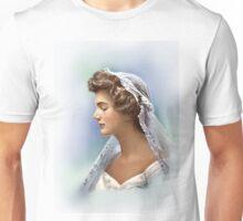 Colorized Vintage Portrait of Jacqueline Kennedy in 1953 Unisex T-Shirt