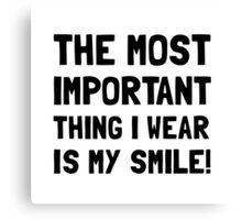 Wear Smile Canvas Print