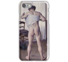 Gustave Caillebotte - Man at His Bath, 1884 iPhone Case/Skin