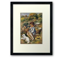 Renoir Auguste - Young Boy By A Brook Framed Print