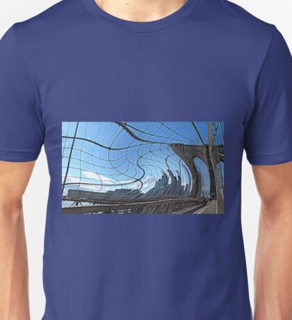 Warped Brooklyn Bridge  Unisex T-Shirt
