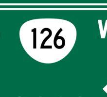 Eugene, OR Road Sign, USA Sticker