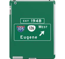 Eugene, OR Road Sign, USA iPad Case/Skin