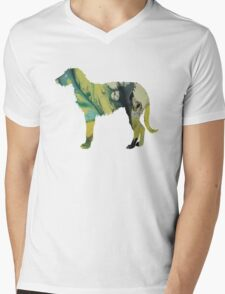 Deerhound Mens V-Neck T-Shirt