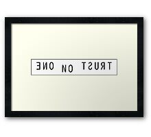 The X Files Trust No One Framed Print