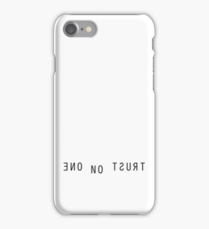 The X Files Trust No One iPhone Case/Skin