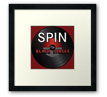 SPIN The Black Circle Framed Print