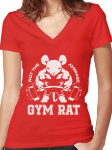 Not the average GYM RAT Women's Fitted V-Neck T-Shirt