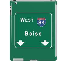 Boise, ID Road Sign, USA iPad Case/Skin
