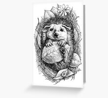 Little hedgehog Greeting Card