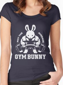 Not the average GYM BUNNY Women's Fitted Scoop T-Shirt