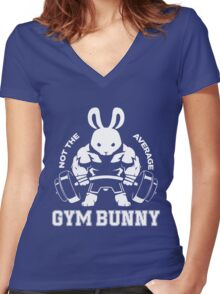 Not the average GYM BUNNY Women's Fitted V-Neck T-Shirt