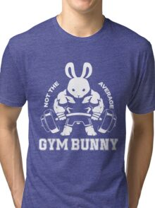 Not the average GYM BUNNY Tri-blend T-Shirt