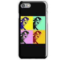 Black Spider-man pop art iPhone Case/Skin