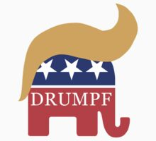 Drumpf 2016 GOP Elephant Hair  Kids Tee
