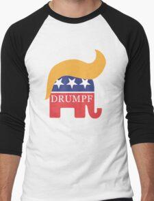 Drumpf 2016 GOP Elephant Hair  Men's Baseball ¾ T-Shirt