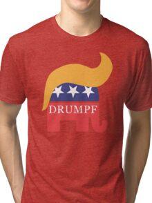 Drumpf 2016 GOP Elephant Hair  Tri-blend T-Shirt