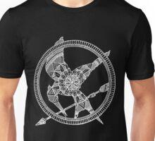 White on Black Hunger Games Mandala Unisex T-Shirt