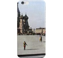 Lady in Red Square iPhone Case/Skin