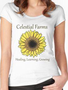 Sunflower - Heal Learn Grow Women's Fitted Scoop T-Shirt