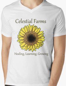 Sunflower - Heal Learn Grow Mens V-Neck T-Shirt
