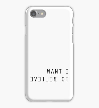 The X Files I Want To Believe iPhone Case/Skin