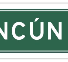 Cancun, Highway Sign, Mexico Sticker