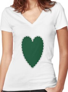 0696 UP Forest Green or Forest Green (Traditional) Women's Fitted V-Neck T-Shirt