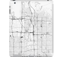 Salt Lake City Map Gray iPad Case/Skin