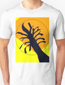 Yellow Ochre Sun Tree Unisex T-Shirt